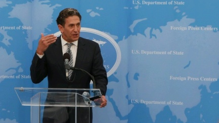 Date: 07/27/2016 Location: Philadelphia, PA Description: James Rubin, an advisor to Hillary for America, provides a foreign policy outlook for journalists who missed yesterday's briefing at the 2016 Democratic National Convention. - State Dept Image